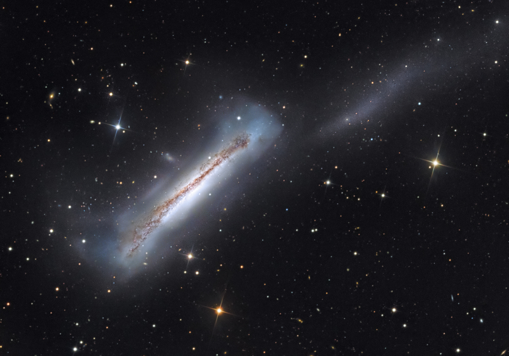 Portrait of NGC 3628