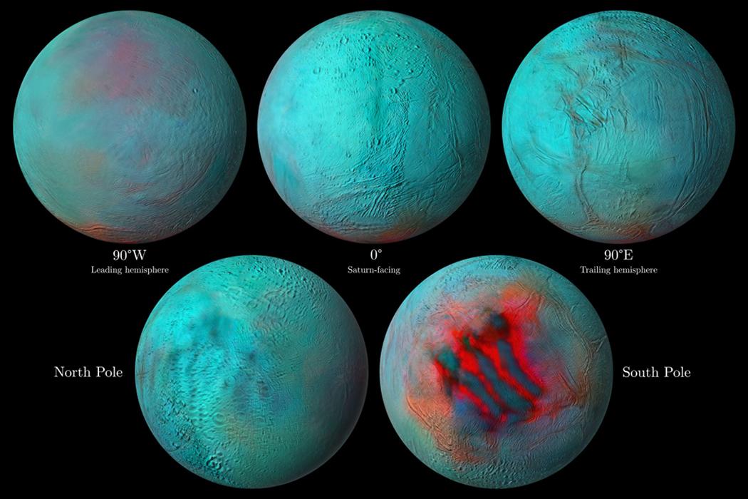 Enceladus infračerveně