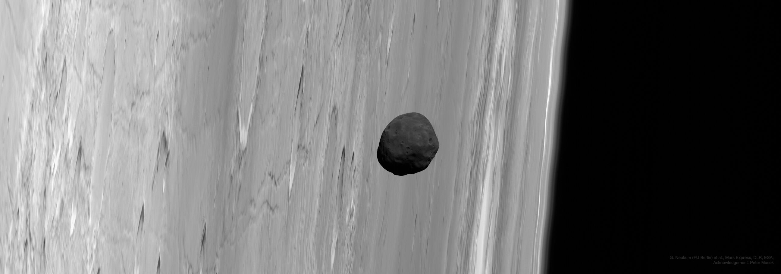APOD: 2020 November 8 - Martian Moon Phobos from Mars Express