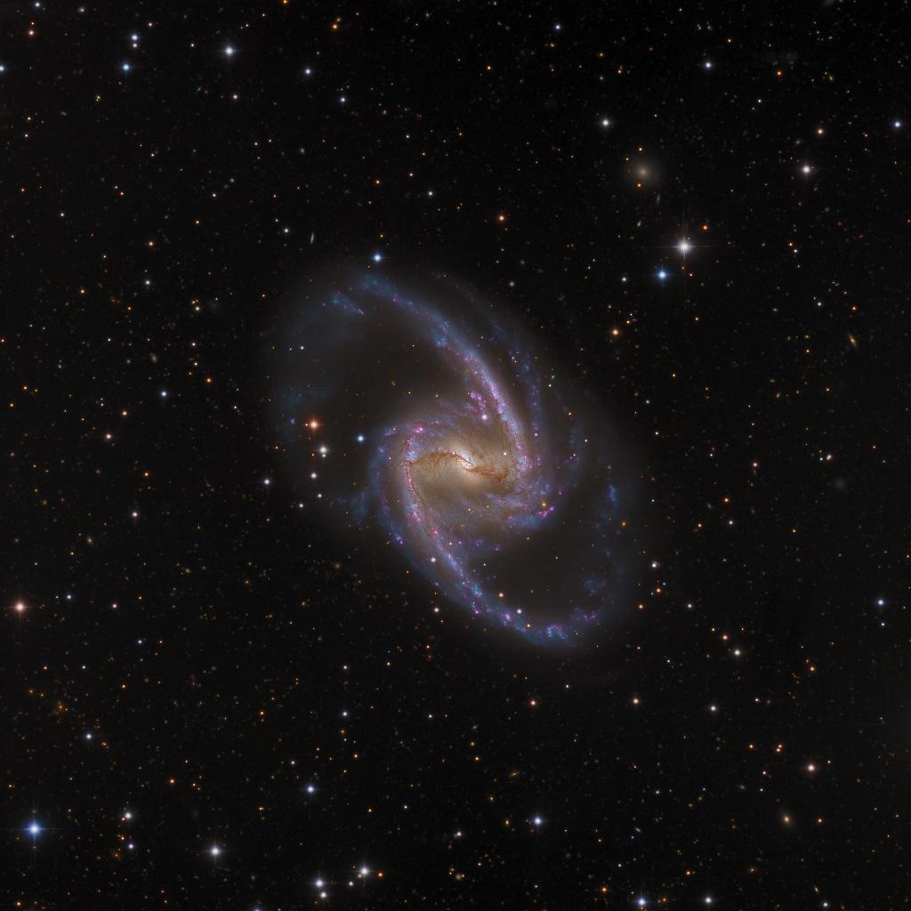 NGC 1365: Majestátní vesmírný ostrov