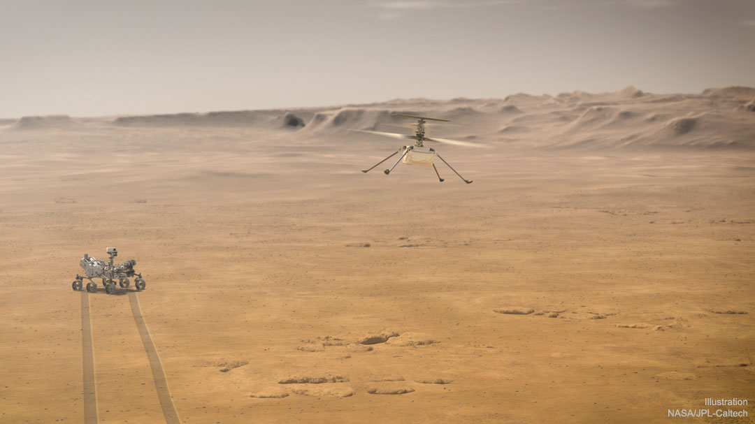 Ingenuity: A Mini Helicopter Now on Mars
