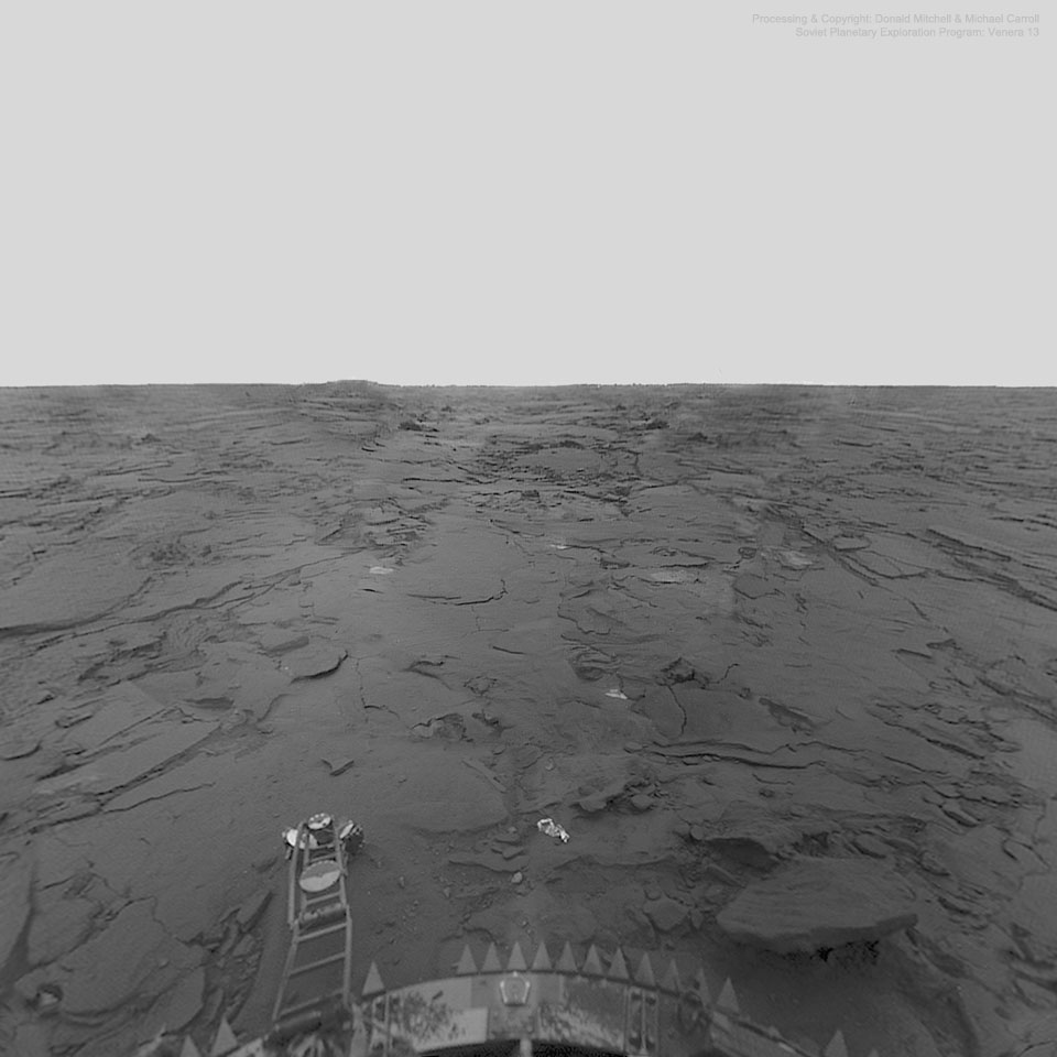 The Surface of Venus from Venera 13