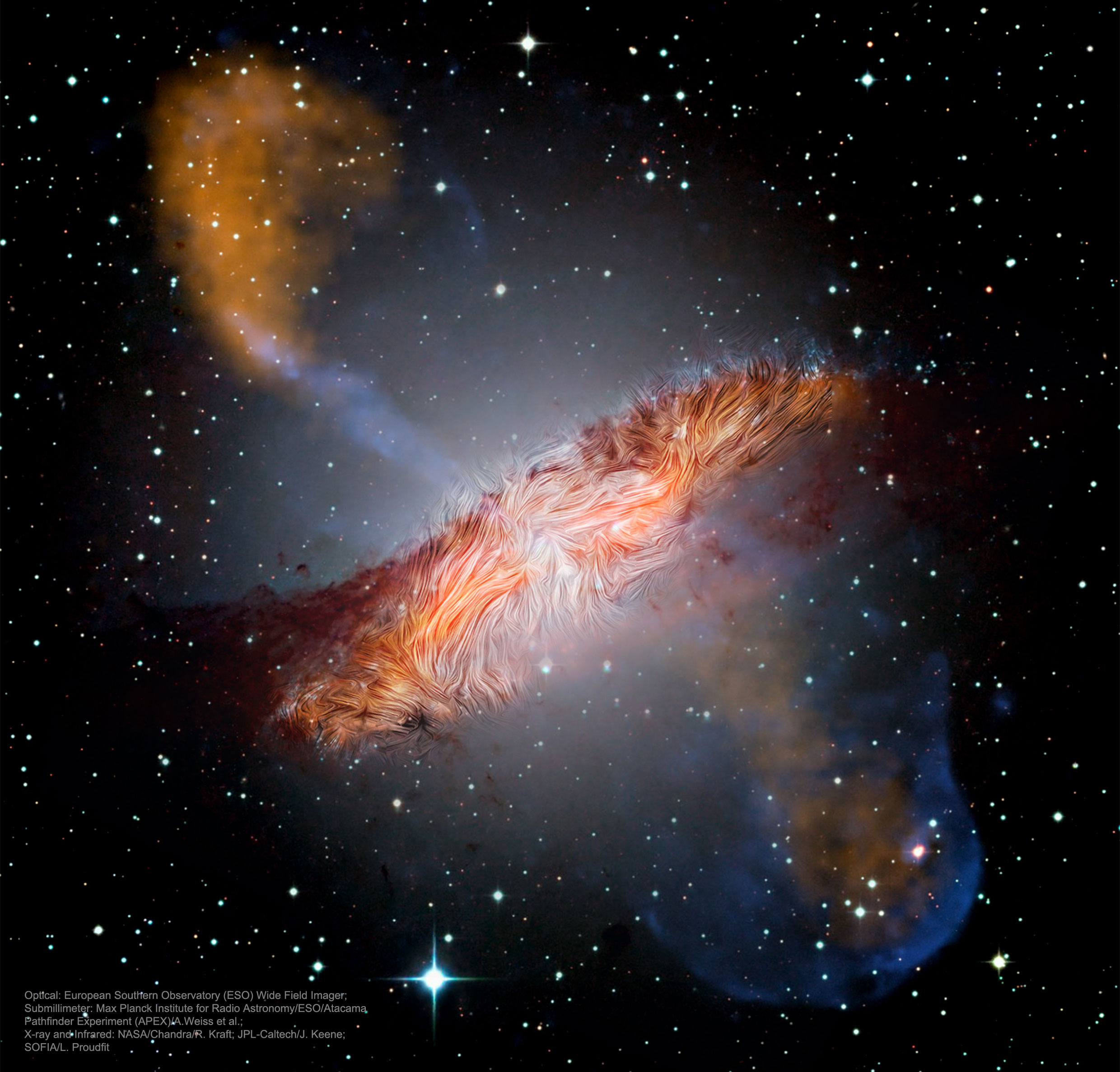 Centaurus A's Warped Magnetic Fields