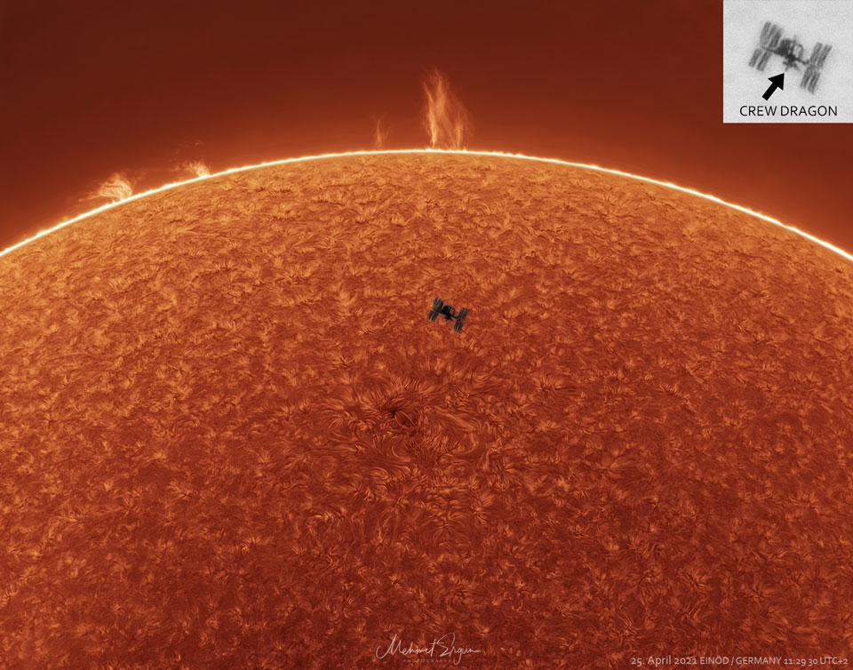 ISS in front of sun