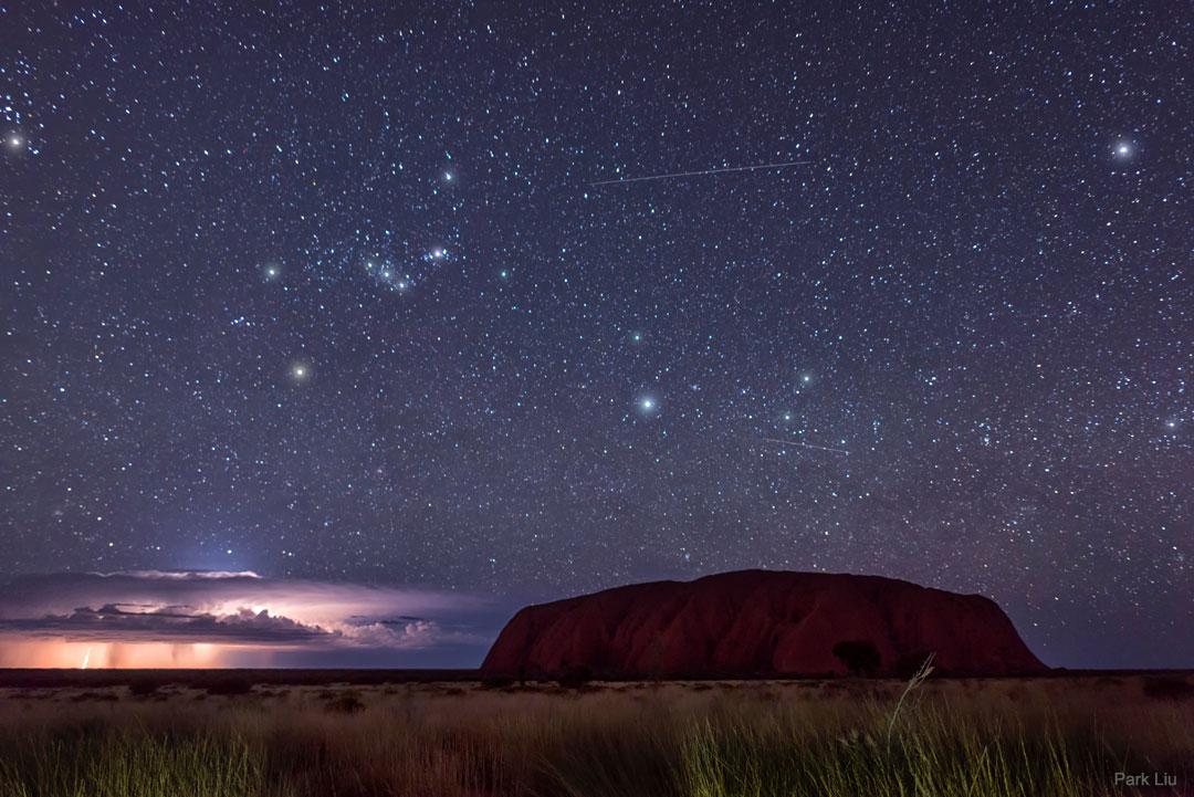 What's happening behind Uluru?