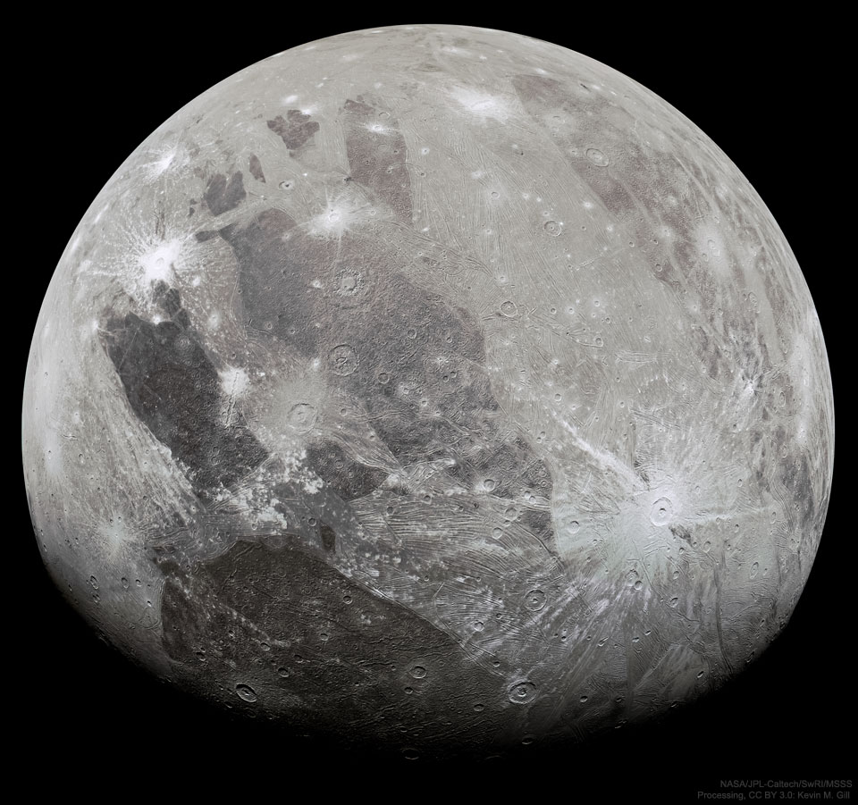 What does the largest moon in the Solar System look like?
