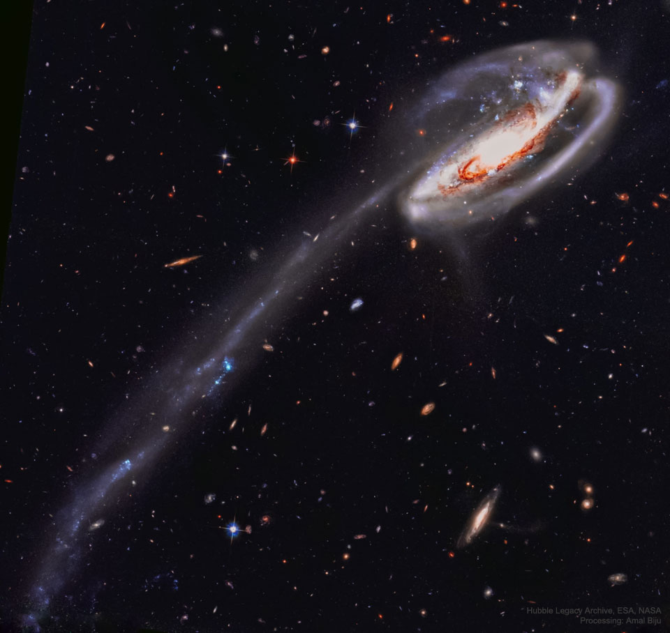 The Tadpole Galaxy from Hubble