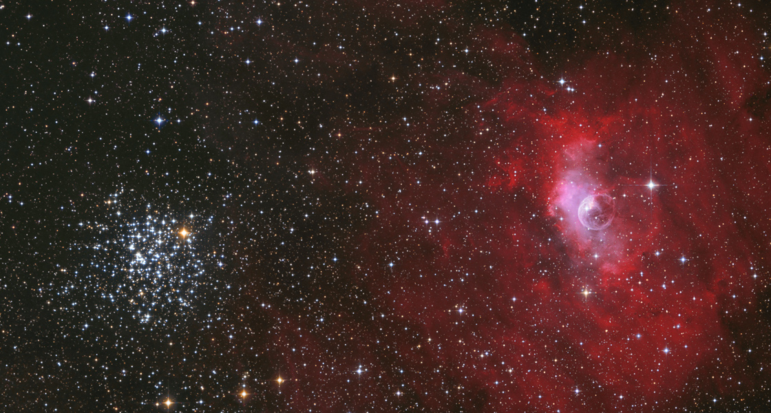 The Bubble and the Star Cluster