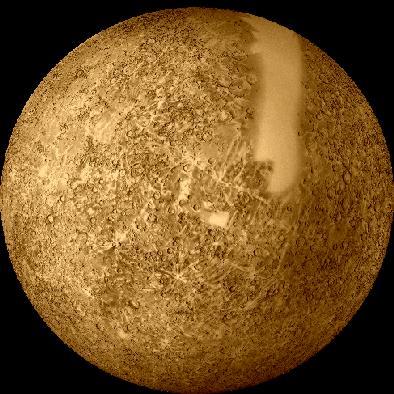 Mercurio visto por el Mariner
