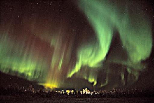 Aurora sobre Circle, Alaska
