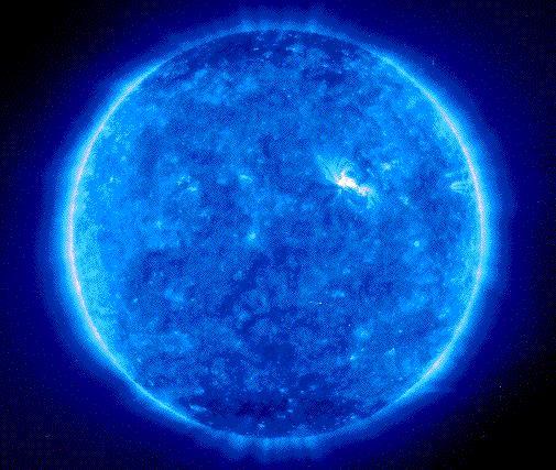 Sol azul deslumbrante