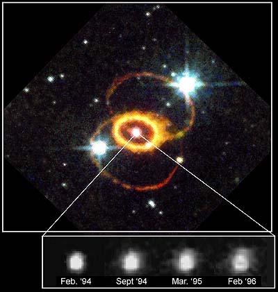 Resuelta la bola de fuego de la supernova 1987a