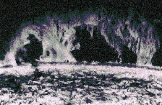 Una prominente protuberancia solar