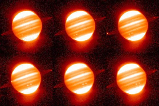 Anillos rojos en torno a Júpiter
