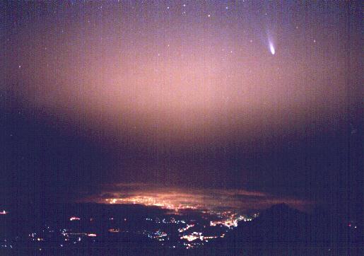 El Hale-Bopp es el cometa más brillante de este siglo