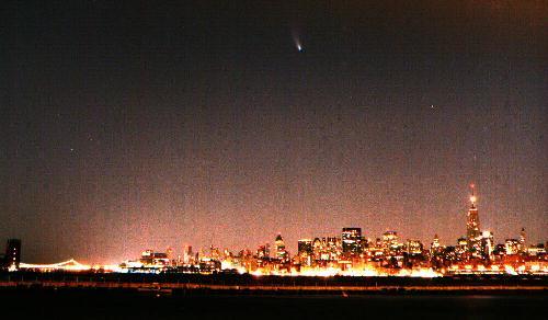 Un cometa de ciudad