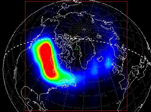 Una tormenta solar causa una aurora de rayos X