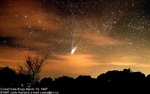 Tierra, Nubes, Cielo, Cometa