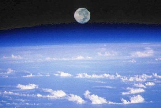 Salida de la Luna, planeta Tierra