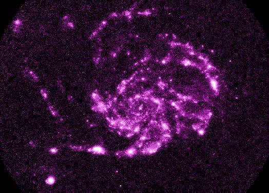 M101: Una vista en ultravioleta