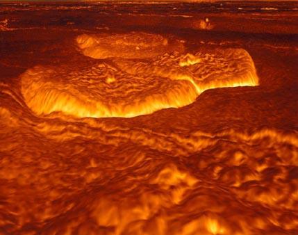 La superficie en algún tiempo fundida de Venus