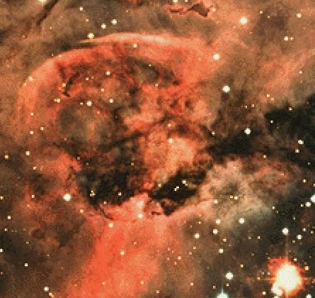 En el centro de la nebulosa Ojo de Cerradura