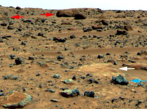 Piedras Extrañas en Marte