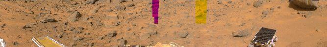 Sol 4: Panorama de Marte a Colores