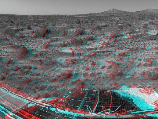 Marte: Picos Gemelos En Estéreo