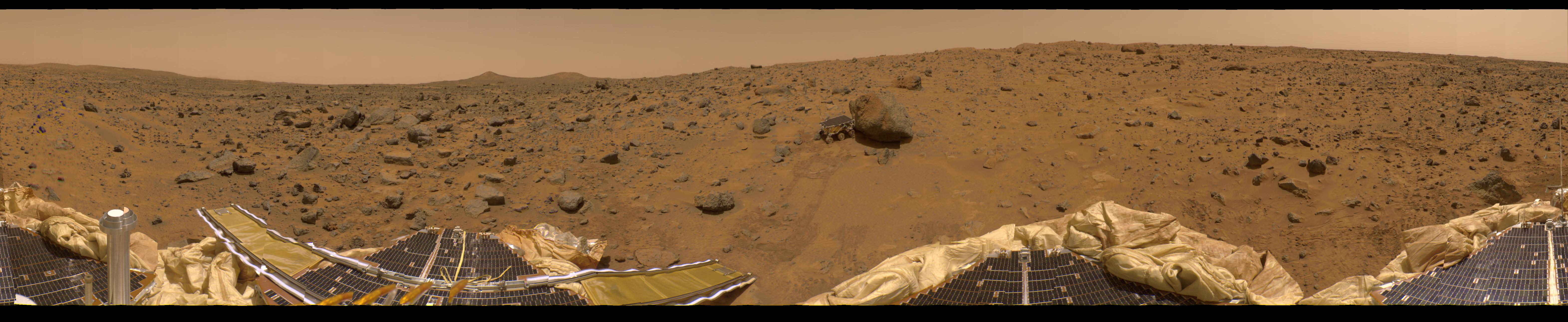 APOD: July 22, 1997 - A Presidential Panorama of Mars