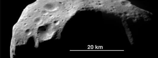 Asteroide 253 Mathilde: sus grandes cráteres