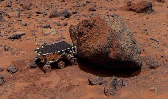 Rocas de Marte, el Sojourner Rueda