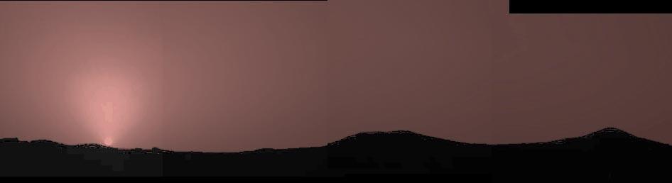Un Ocaso Herrumbroso En Marte