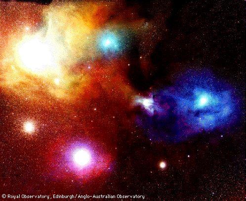 Antares y Rho Ophiuchi