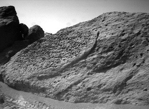 Roca de Media Cúpula en Marte
