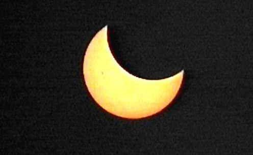 Un eclipse parcial en los cielos meridionales