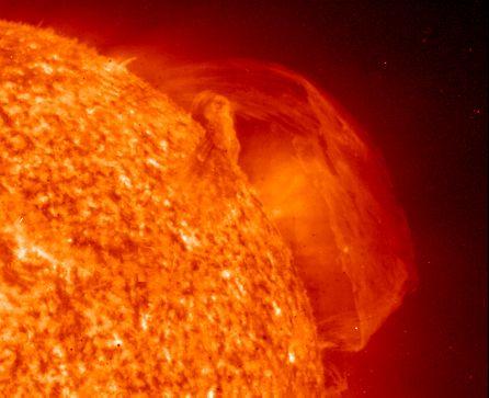 Sol en erupción