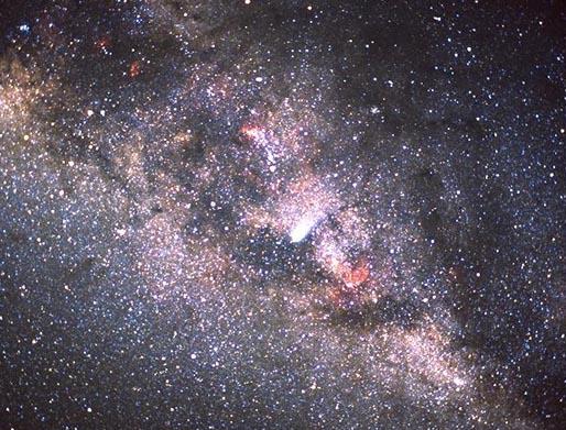 El cometa Halley y la Vía Láctea