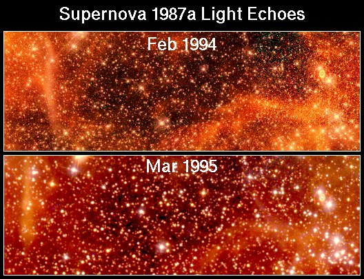 Ecos en movimiento alrededor de SN 1987A