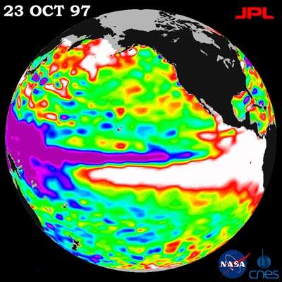 El Niño, Tierra