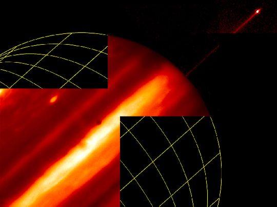 Júpiter: luna, anillo y nubes