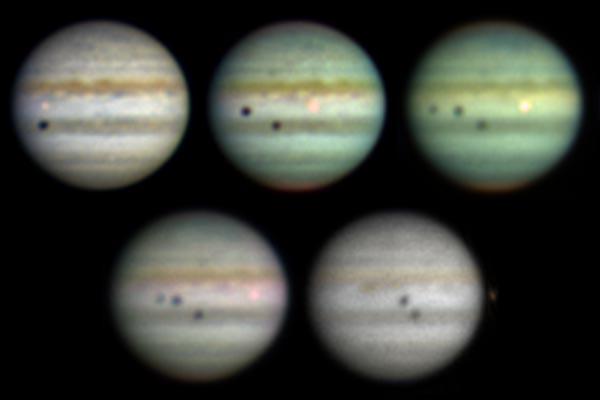 Un triple eclipse sobre Júpiter