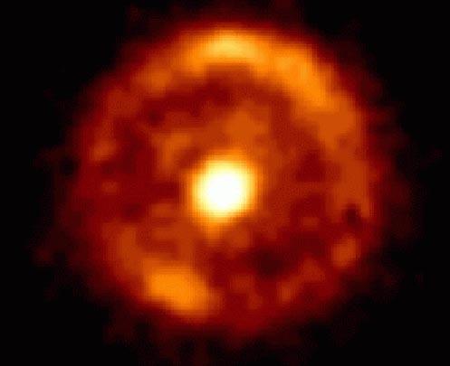 Un anillo de Einstein en forma de diana