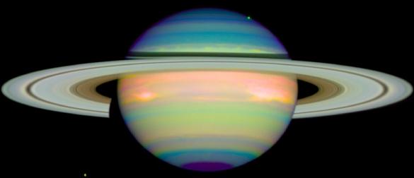 Saturno Infrarrojo