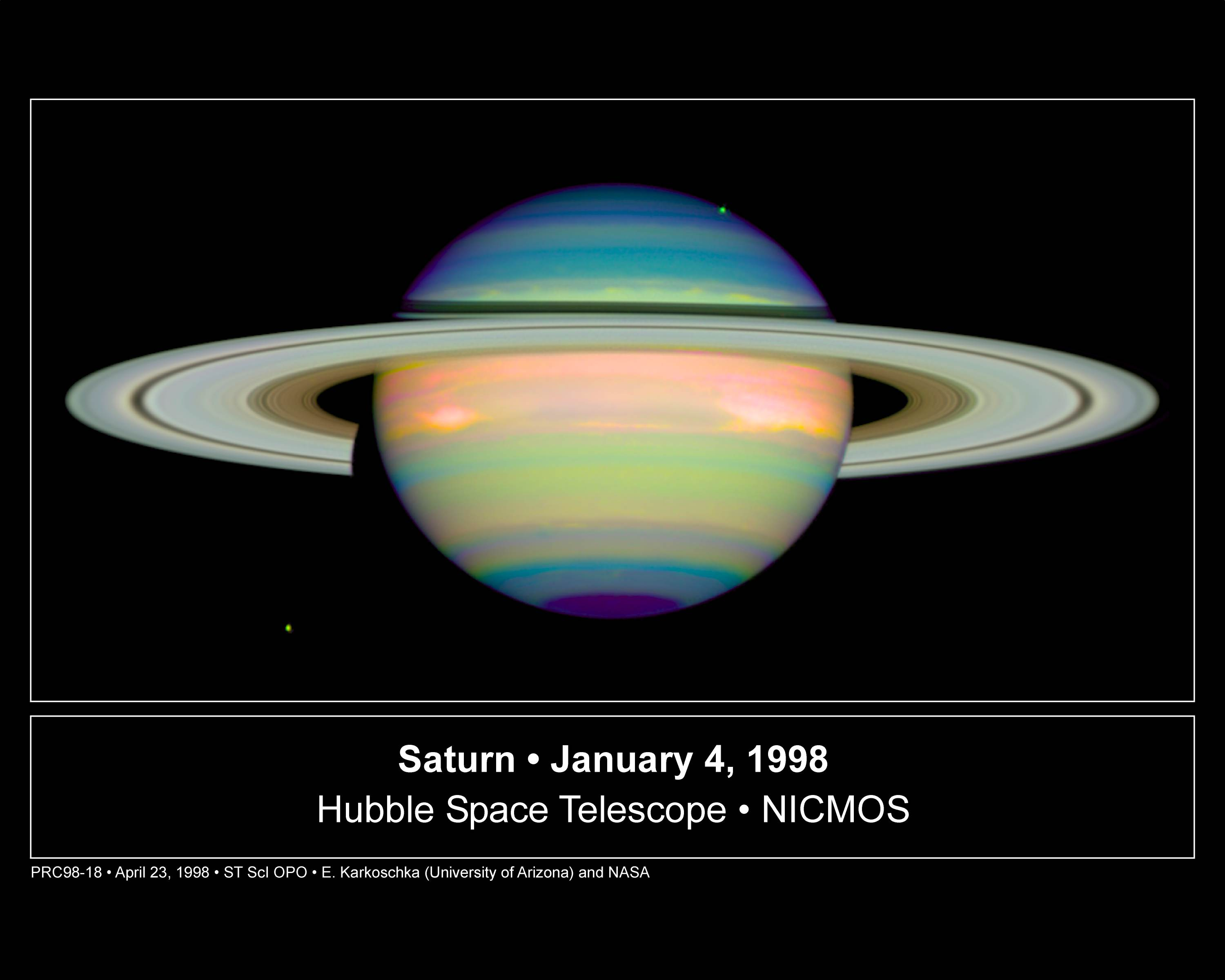 Apod april 24 1998 infrared saturn see explanation clicking on the picture will download the highest resolution version available infrared saturn altavistaventures Gallery