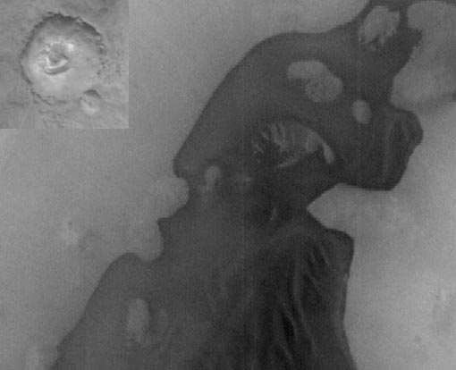 Cráter Marciano que Evidencia un Estanque Seco