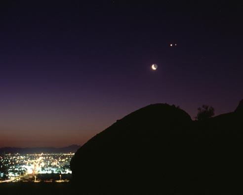 La Luna, Venus, Júpiter, Phoenix