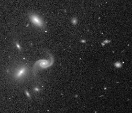 Un peculiar cúmulo de Galaxias