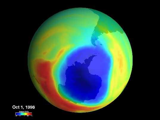 El mayor agujero de ozono del mundo