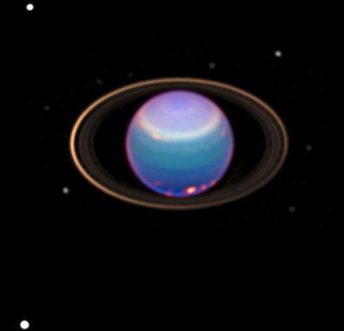 Urano infrarrojo